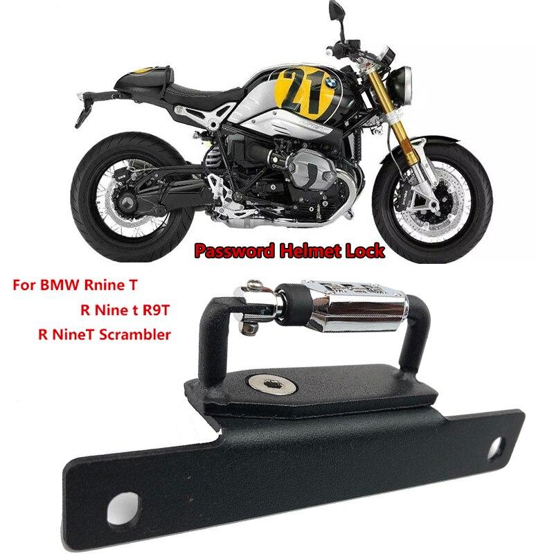 Motorcycle Helmet Lock Password Mount Hook Black Side Anti-theft Security Fits For BMW Rnine T /R Nine T R9T /R NineT Scrambler