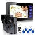 """7"""" TFT Video Intercom RFID Keyfobs Key IR Camera & Code Keypad &Remote Doorbell"""