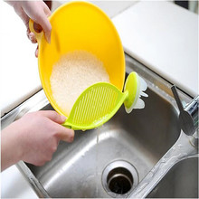 Multifunctional Cleaning Wash Rice Washing Sieve Filter Agitator Leachate Drainer Colanders Strainer Device Kitchen Gargets Tool