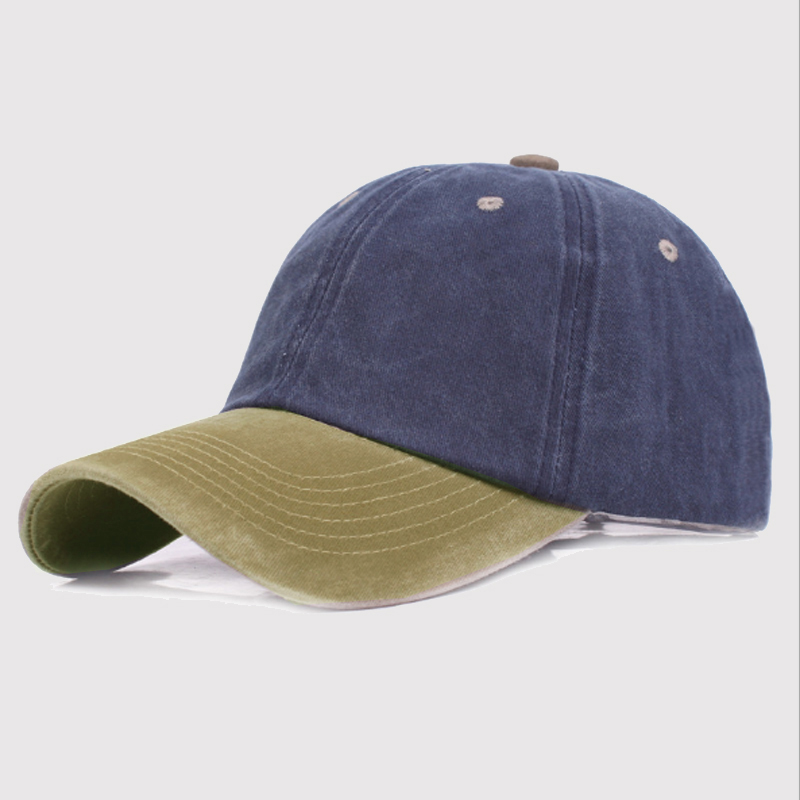 Cotton Snapback Color Patchwork Baseball Cap Hat For Women Men Washed Retro Unisex Dad Hats Cap Casual Summer Sun Hat Type X001 fashion solid color baseball cap for men and women