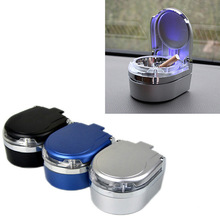 Portable Car Ashtray LED Light Auto Car Cigarette Cylinder Ashtray Hol