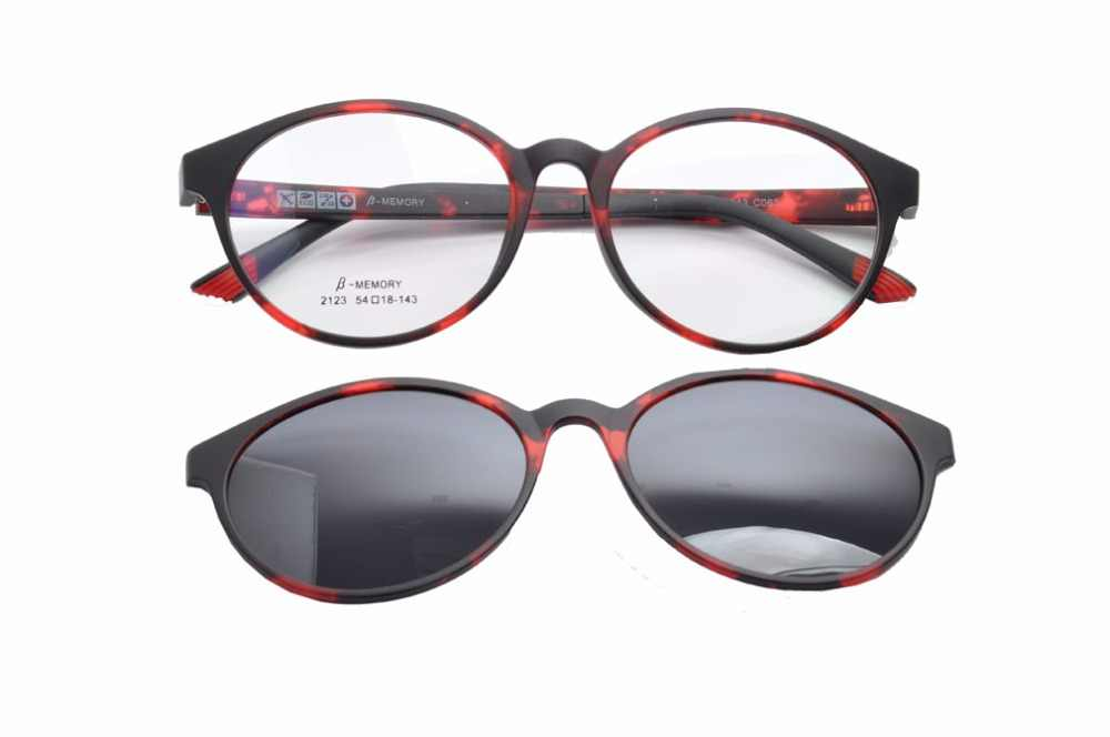 874e20b3250 DEDING 2017 Round Clip-on Sun Glasses optical frame with polarized lens  magnet fashion clip