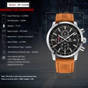 Image 3 - Benyar Mode Chronograaf Sport Heren Horloges Topmerk Luxe Quartz Horloge Reloj Hombre Saat Klok Mannelijke Uur Relogio Masculino