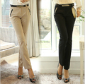 New Fashion 2015 Spring Summer Women's Formal Pants Office Ladies' Work Solid Trendy Skinny Slim Pants Trousers Plus Size XXL