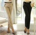 Nova moda primavera verão 2015 das mulheres calças formais escritório ladies ' trabalho sólido na moda calças Skinny Slim calças Plus Size XXL