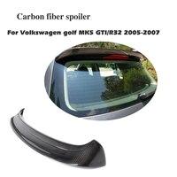 Carbon Fiber Rear Roof Spoiler Wing Lip For Volkswagen VW Golf 5 V MK5 GTI R32 2005 2007