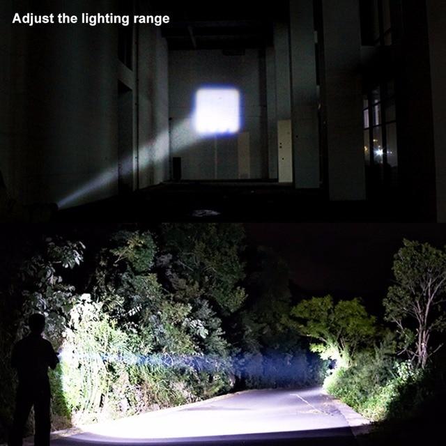 COB LED el feneri süper parlak su geçirmez el feneri Torch cep çalışma ışığı acil aydınlatma 1xAA pil