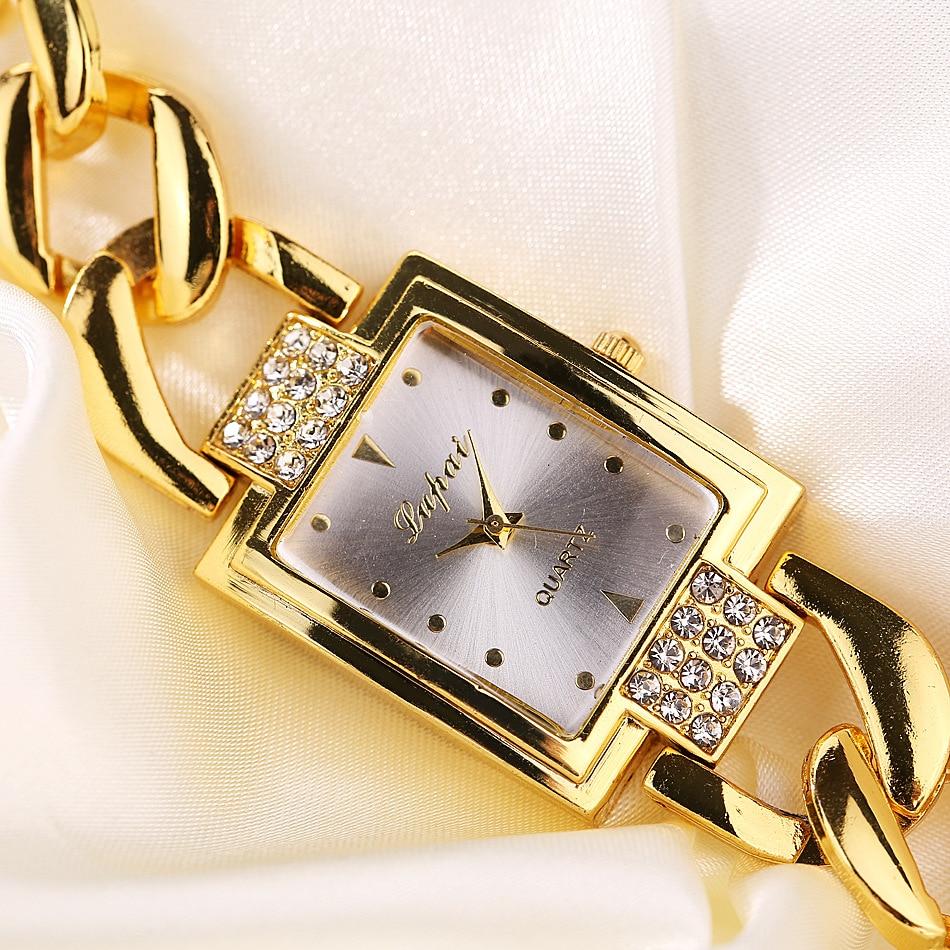 Luxury Women's Watch 2018 Shine Rectangle Dial Rose Gold Stainless Steel Bracelet Watch Women Men Watch Hot Sale Relojes mujer hot sale fashion stainless steel rose gold