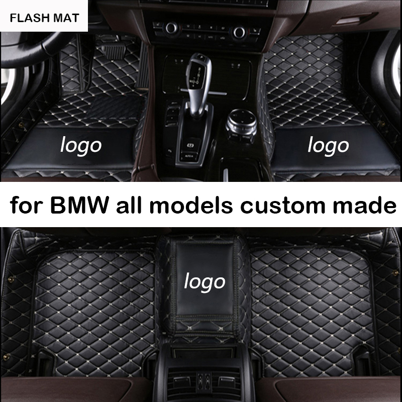 Custom LOGO car floor mats for bmw e90 bmw x5 e70 f10 f01 f25 f30 f45 x1 x3 f25 f15 e30 e34 e60 e65 e83 320i auto accessories car believe auto automobiles leather car seat cover for bmw e30 e34 e36 e39 e46 e60 f11 f10 f30 x3 x5 e35 x1 car accessories