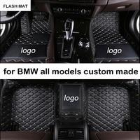 Custom LOGO car floor mats for bmw g30 e90 e46 f10 f11 x3 e83 f30 f45 x1 x3 f25 x5 f15 e30 e34 e60 e65 e70 all models car mats