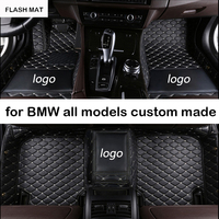 Custom LOGO car floor mats for bmw g30 all models e90 e46 f10 f11 x3 e83 f30 f45 x1 x3 f25 x5 f15 e30 e34 e60 e65 e70 car mats