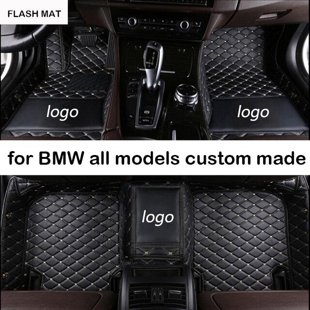 Изготовленным на заказ логосом автомобильные коврики для bmw g30 все модели e90 e46 f10 f11 x3 e83 f30 f45 x1 x3 f25 x5 f15 e30 e34 e60 e65 e70 Автомобильные Коврики
