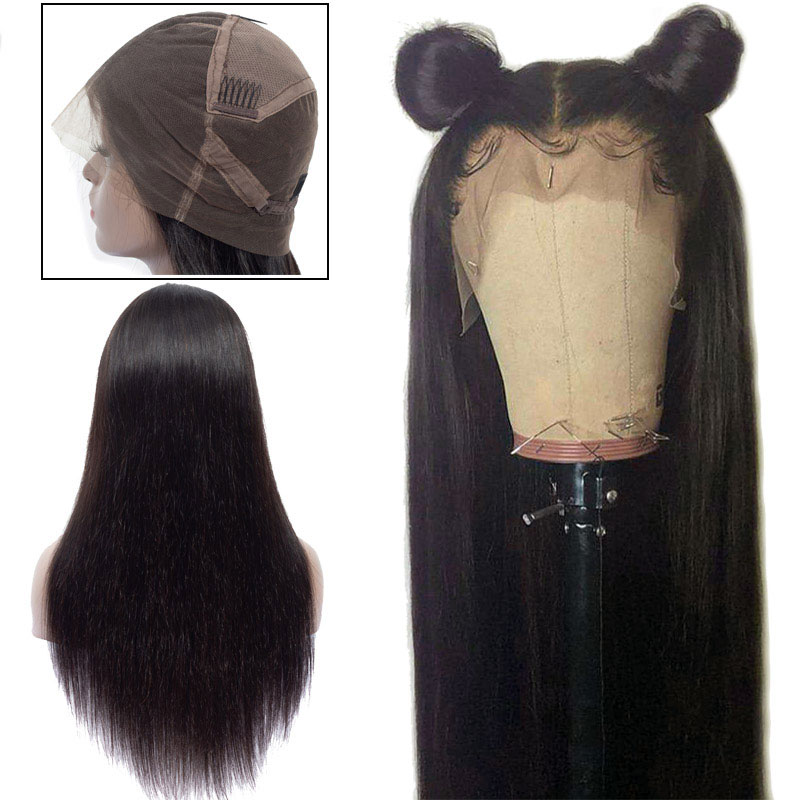 Brazilian Full Lace Human Hair Wigs For Black Women Straight Lace Front Wigs Remy Kiss Love