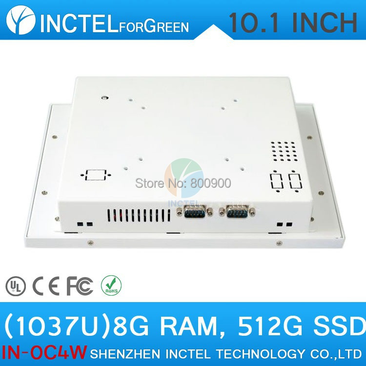 2015 new product White LED computer Touch screen All in one pc with White Color 1037u processor Windows linux 8G RAM 512G SSD