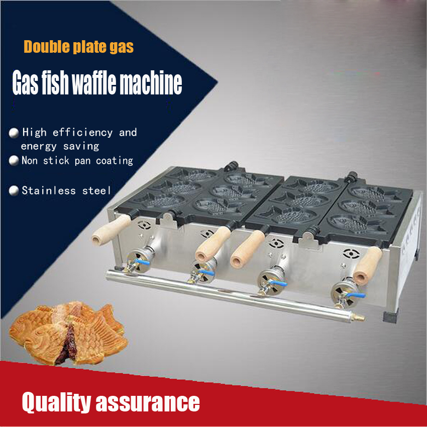 1 PC  Gas fish cake machine/Commercial  Japanese Taiyaki Fish Waffle Baker Maker  Iron Machine 1 pc gas fish cake machine commercial japanese taiyaki fish waffle baker maker iron machine