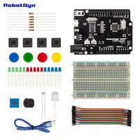 Starter Kit Compatible For Arduino Uno R3 Projects With Breadboard Jumper Wires Color RGB LED Button
