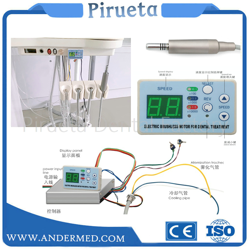Dental unit built-in Brushless Electric Micro motor Cord FIT NSK NLX NANO inner water spray with fiber opticDental unit built-in Brushless Electric Micro motor Cord FIT NSK NLX NANO inner water spray with fiber optic