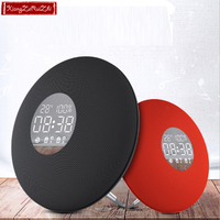 Wireless Bluetooth speaker Clock speaker alarm clock sound fashionable bass speaker Portable 3D bass Music computer speaker