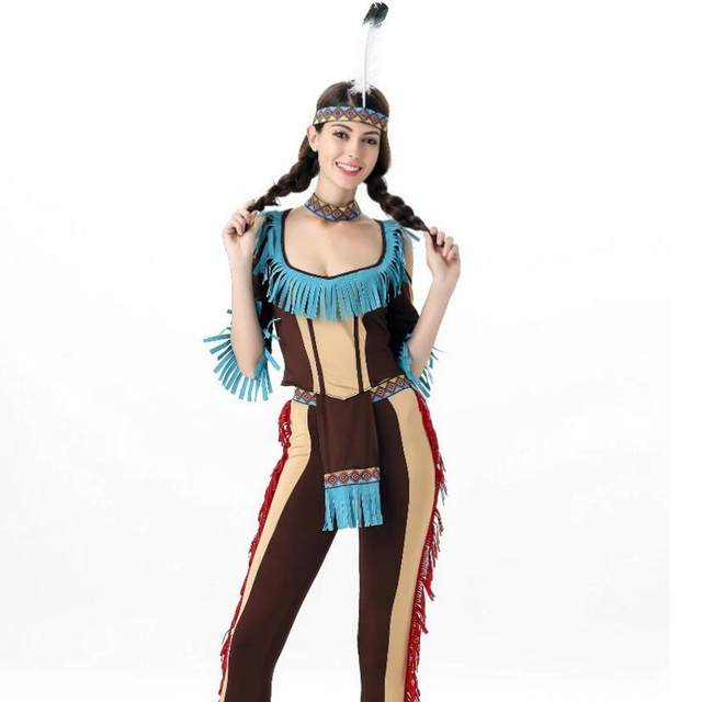 Halloween Costume Native American costume COS uniform seduction Gypsy forest Hunter Hawaii Costume summer dress sexy costume  sc 1 st  Aliexpress & Online Shop Halloween Costume Native American costume COS uniform ...
