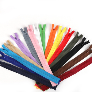 10pcs/bag 28cm 35cm 40cm 50cm 55cm 60cm Long Invisible Zippers DIY Nylon Coil Zipper For Sewing Clothes Accessory
