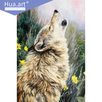 Europe Diamond Painting Diamond Embroidery Full Round Animal Wolf Gift Home Decoration Mosaic 5d Diy Christmas