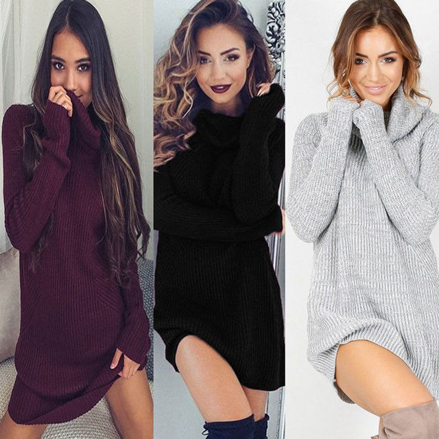 5cf93ac8b336 2017 delle signore delle donne abbigliamento invernale abiti pesanti a  maniche lunghe maglione lavorato a maglia
