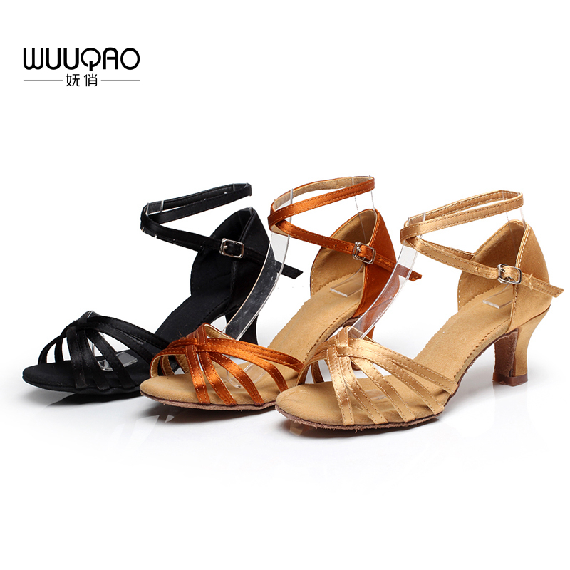 New Arrival Women 39 s Dance Shoes Heeled Tango Ballroom Latin Salsa Dancing Shoes For Ladies Hot Sales in Dance shoes from Sports amp Entertainment