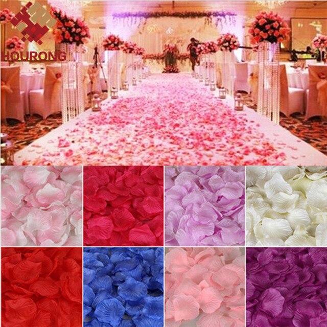 2000pcs Lot Artificial Wedding Rose Petals Flower Supplies Favor Party Decoration Carpet