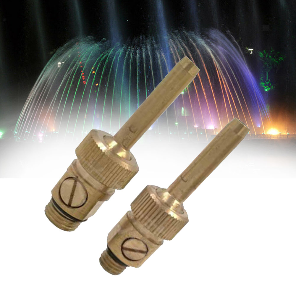 Adjustable Jet Straight Brass With Sluice Sprinkler Pond Outdoor Fountain Nozzle Garden Gushing Home Easy Install Pool