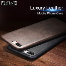 WeiFaJK Luxury Leather Silicone Case For iPhone 8 8 Plus 7 6 6s Plus Soft TPU Back Cases For iPhone 6 6s 7 8 Plus X Protect Case чехол для сотового телефона uag monarch series case для iphone 6 plus 6s plus 7 plus 8 plus красный