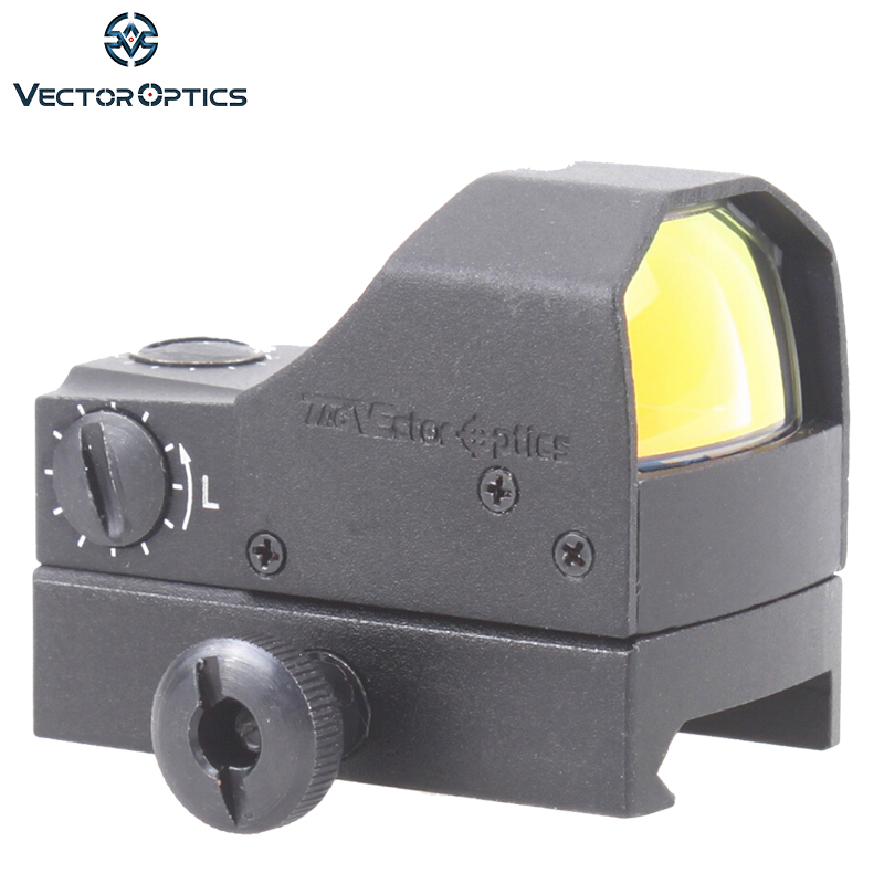 Vector Optics Fury 1x Compact Mini Reflex Red Dot Sight 0.5m Water Shock Resistance with Weaver Base fit 12GA Shotgun .223 .308 vector optics sphinx 1x22 mini reflex compact green dot sight scope very light with 20mm weaver mount base