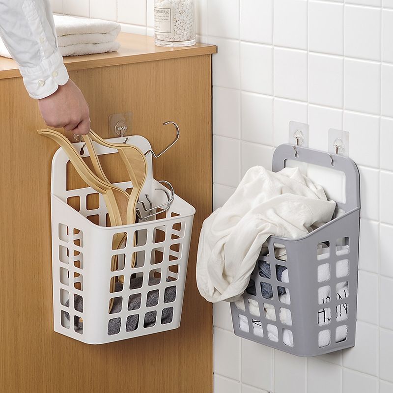 Sucker Hanging Dirty Clothes Basket Dirty Plastic Clothes Basket Laundry Basket Storage Fruit Basket in Storage Baskets from Home Garden