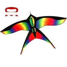 free shipping high quality rainbow swallow kite 10pcs/lot with handle line eagle kite bar kid kite surfing hcxkite factory