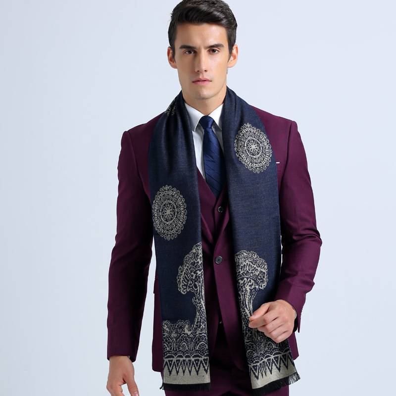 Traditional Chinoise Style Basic Scarves For Men Winter Fashion Casual font b Tartan b font Foulard