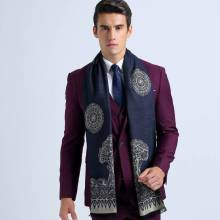 Traditional Chinoise Style Basic Scarves For Men Winter Fashion Casual Tartan Foulard YJWD330