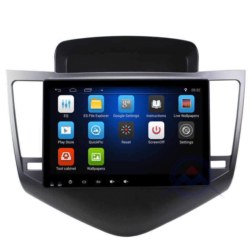 ZOHANAVI 9 cal z systemem Android samochodowy odtwarzacz dvd GPS dla CHEVROLET CRUZE 2009 2010 2011 2012 radio audio multimedia odtwarzacz z i aktualną pogodę lub przeczytaj ostatnie