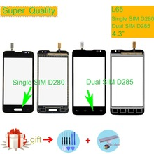 For LG L65 Single SIM D280 D280N Dual SIM D285 Touch Screen Touch Panel Sensor Digitizer Front Glass Outer Lens Touchscreen 4 7 inch touchscreen for htc desire 526g dual sim touch screen panel digitizer glass lens repair replacement free shipping