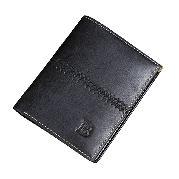 цена  Men Leather Wallet Pocket ID Card Holder Billfold Slim Clutch Bifold Purse GiftsColor:Black  онлайн в 2017 году