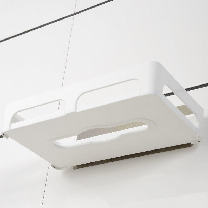 Magic Flexible Sticker Plastic Toilet Paper Holder Toilet Paper Holder Toilet Paper Storage Racks Kitchen Shelf Bathroom Shelf