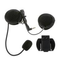2019 New Motorcycle Earphone Speaker Intercom Accessories 3.5mm Jack Plug &Clip For V4 V6 Auto Accessories Helmet Headsets     -