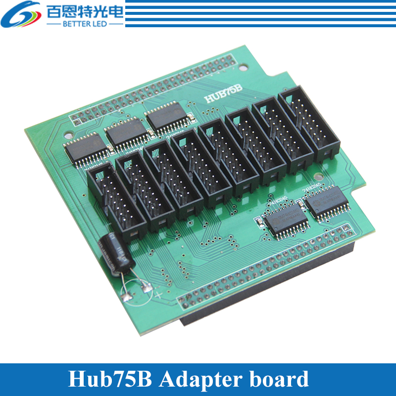 Full Color LED Display Conversion Card Hub75B Adapter Board Support 1/2, 1/4, 1/8, 1/16 Scan