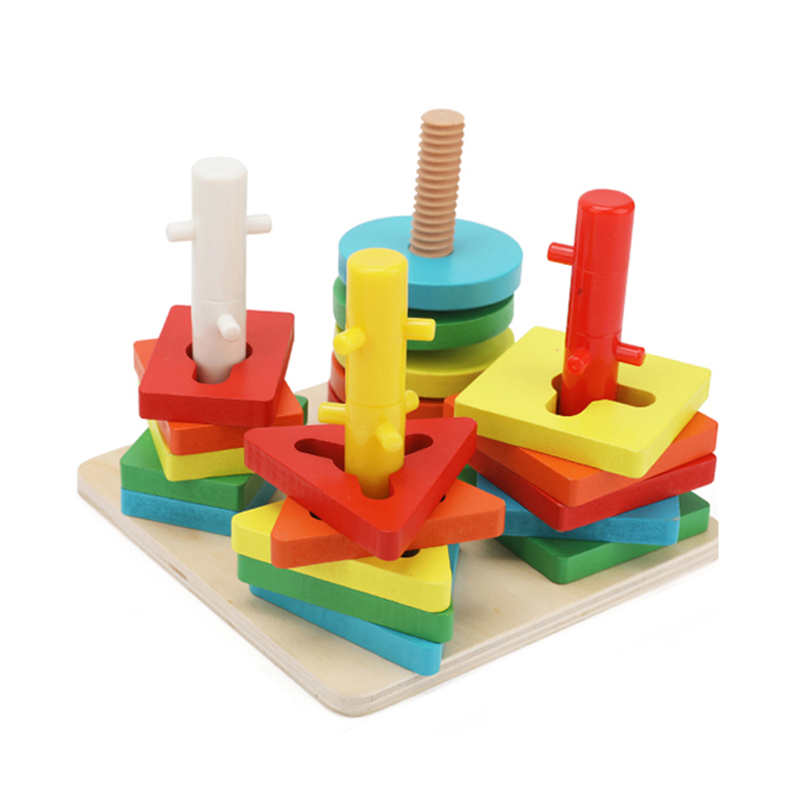 3D Bébé En Bois Puzzle Jouet Cube Jeu de Société Jiasaw IQ Montessori Éducatifs Jouets En Bois Puzzle Bois Puzzles Pour Enfants 60D0011