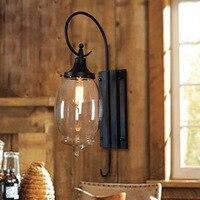 Vintage e27 lampada da parete nera scone luce lampada da parete a led flessibile industriale ha condotto la luce scale b1001