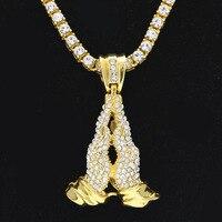 Bling Bling homens Hip Hop Para Fora Congelado 5mm1 Row Simulado diamantes Cadeia Colares Dog Tag Pingente de Ouro de Luxo Da Marca Homens jóias