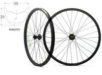 Asymmetric 29ER MTB AM carbon wheels 29inch 35mm width 25mm depth mountain bike hookless carbon wheelset with Bitex hub