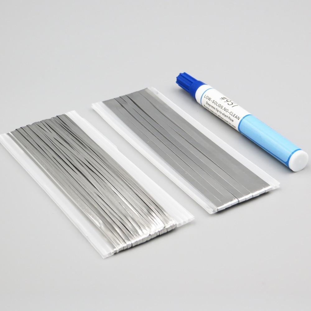 66ft Tabbing TabWire+6ft PV Ribbon Bus Wire+1pc 951 Soldering Rosin Flux Pen For DIY Soldering Solar Cell Panel Kester