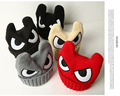 2016 new arrival spring winter children knitted skullies wool cap eyes baby warm hat horn boy girl beanies wholesale