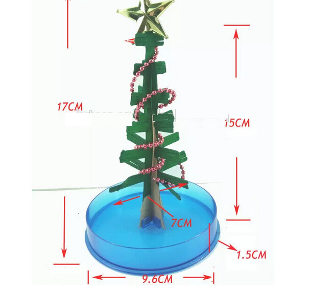 2019 170mm H Colorful Visual Mystic Crystals Paper Growing Tree Magic Christmas Trees Kids Educational Science Baby Toys Novelty in Gags Practical Jokes from Toys Hobbies