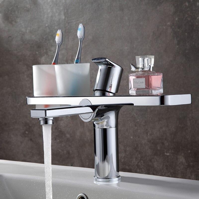 Mais recente estilo de Cromo/Preto tapa-up Bacia de latão Maciço torneira pia do banheiro misturador torneira com Duplo copo Escova de Dentes titular