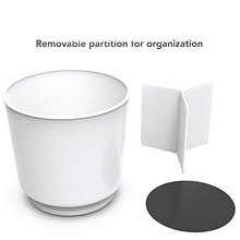 Rotating Utensil Holder utensils Caddy with No Tip Weighted Base Removable Divider And Gripped Insert
